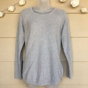 Athleta • Gray Varsity Sweater Pullover Crewneck